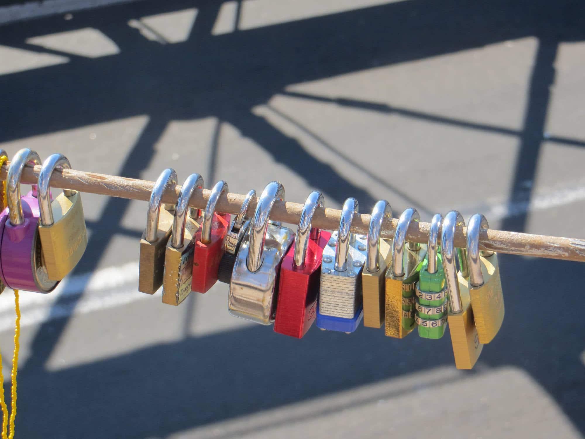 Love Locks on Brooklyn Bridge
