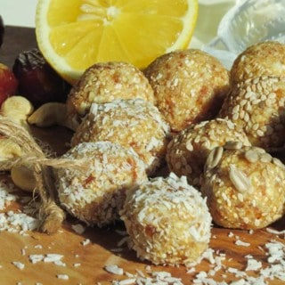 Vegan Energy Balls with Dates, Cashews, and Amaranth