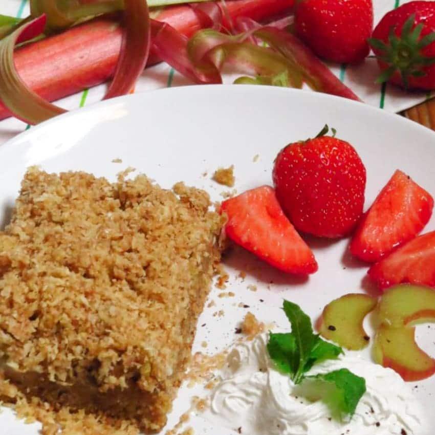 Vegan Rhubarb Coconut Cake