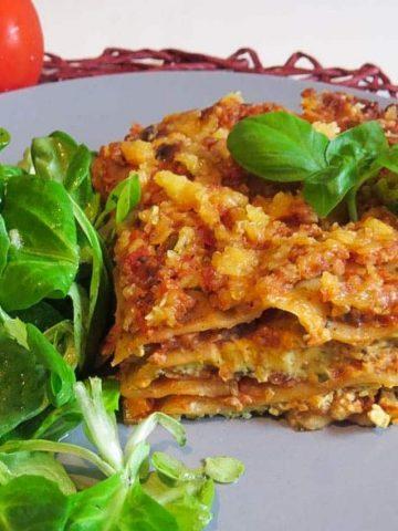 Vegan Unripe Spelt Lasagna with Cashew-Spinach Ricotta
