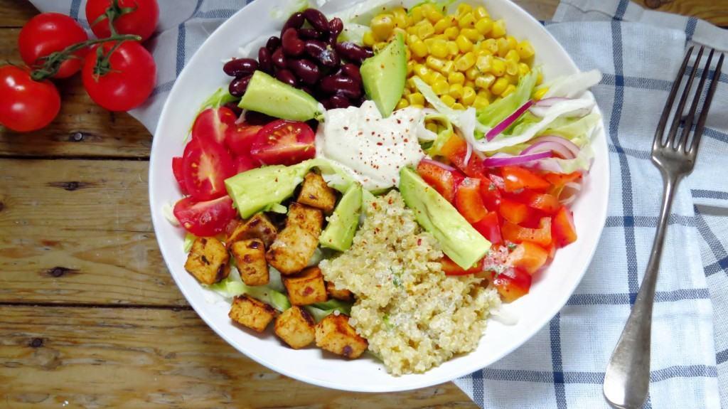 Vegan Southwestern Salad with Cashew Sour Cream