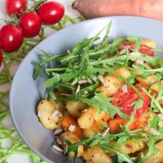 Gnocchi with Arugula and Sweet Potato