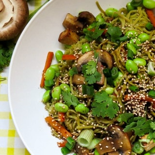 Soba Noodles with Vegetables and Sesame Tofu