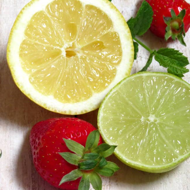 Strawberry Rhubarb Lemonade in the Making