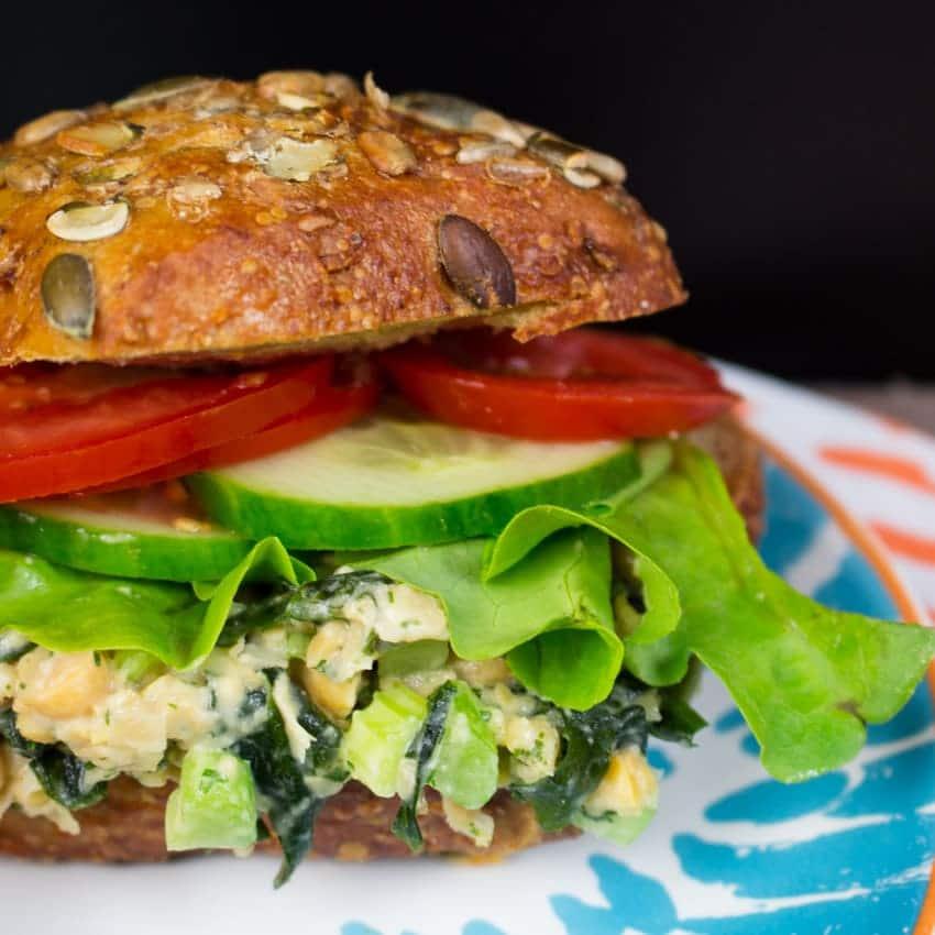 Vegan Tuna Salad with Chickpeas - Vegan Heaven