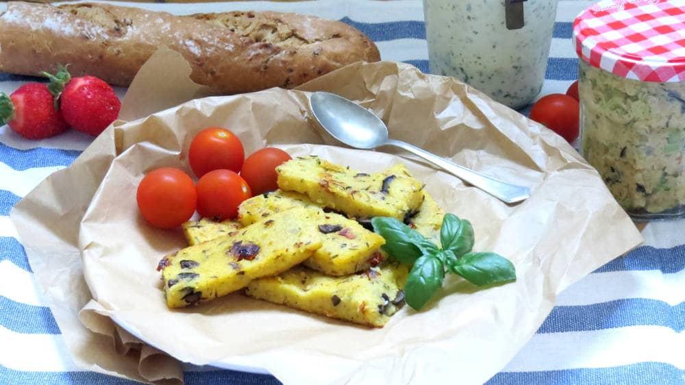Vegan Picnic with Mediterranean Polenta