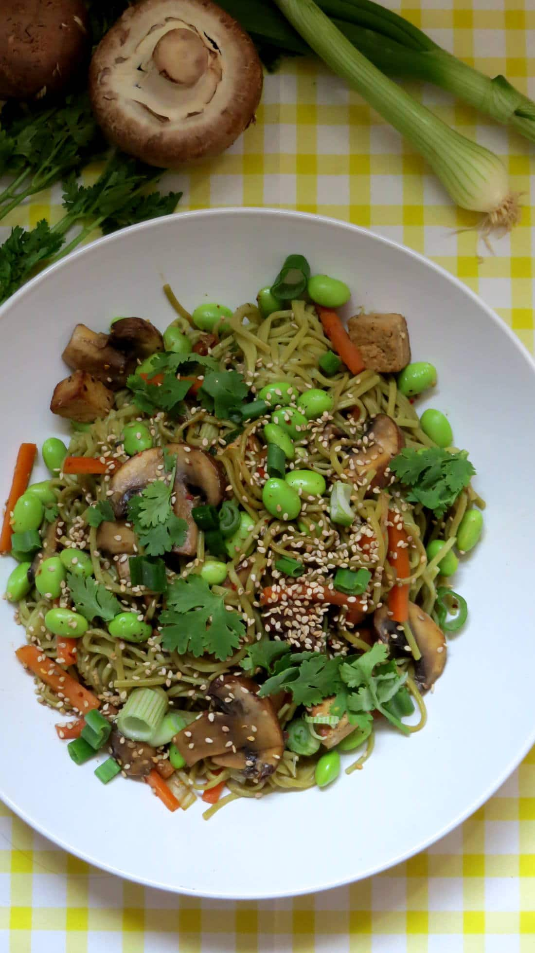 Soba Noodles with Vegetables and Sesame Tofu - Vegan Heaven