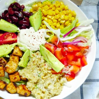 Vegan Southwestern Salad with Cashew Sour Cream