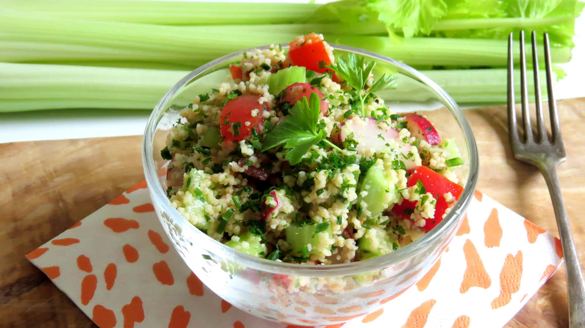 Spring Couscous Salad - Vegan Heaven