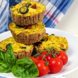 Vegan Tomato Leek Mini Quiches