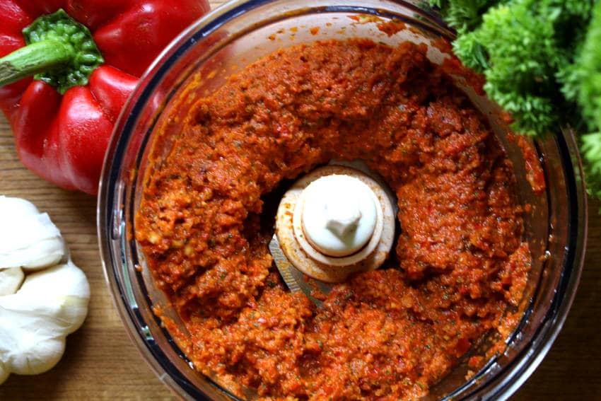 Red Bell Pepper Almond Pesto