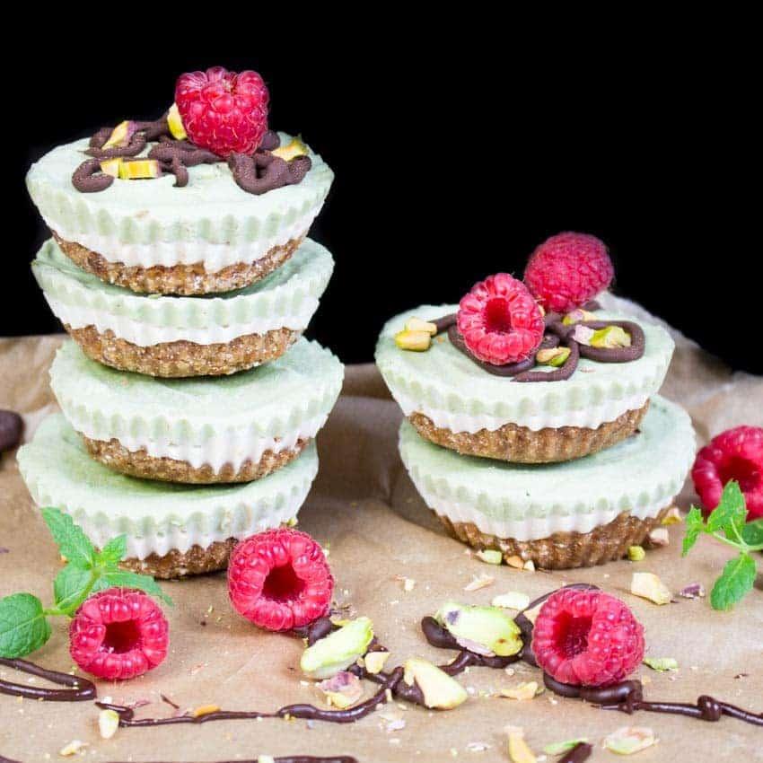 Mini Matcha Cheesecakes