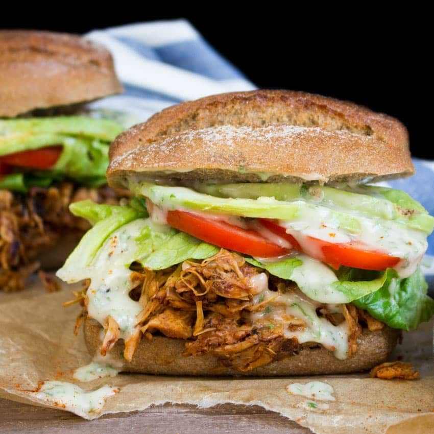 Vegan Jackfruit Pulled Pork Sandwiches