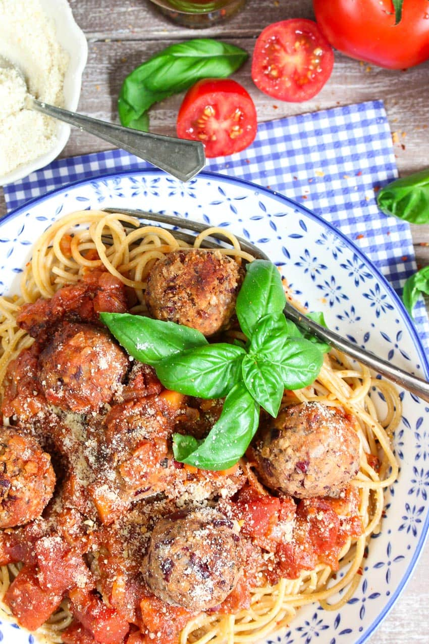 Spaghetti with Bean Balls