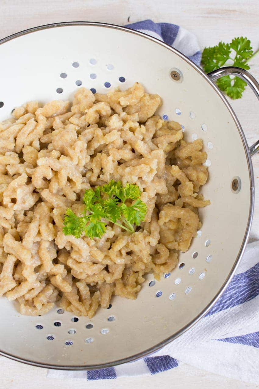 Vegan German Cheese Spaetzle