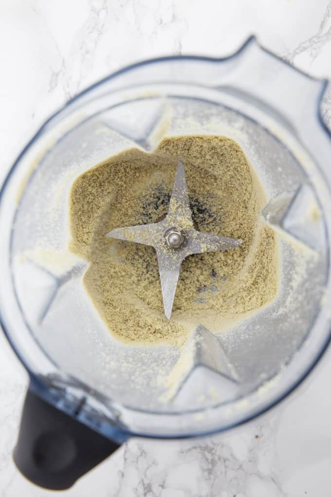 ground sunflower seeds in a Vitamix blender