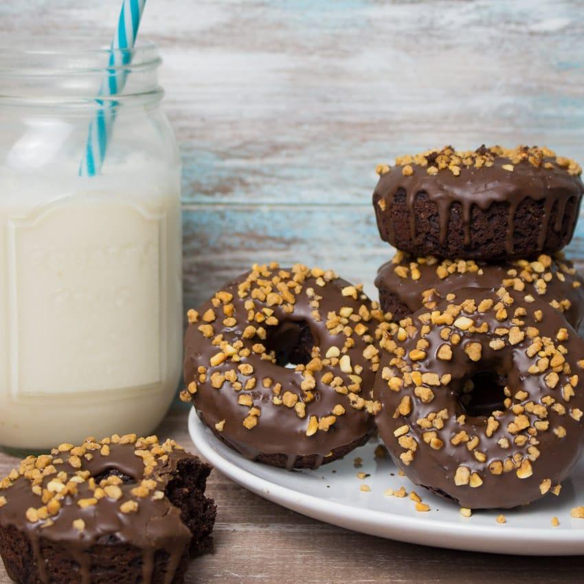 Vegan Chocolate Hazelnut Donuts