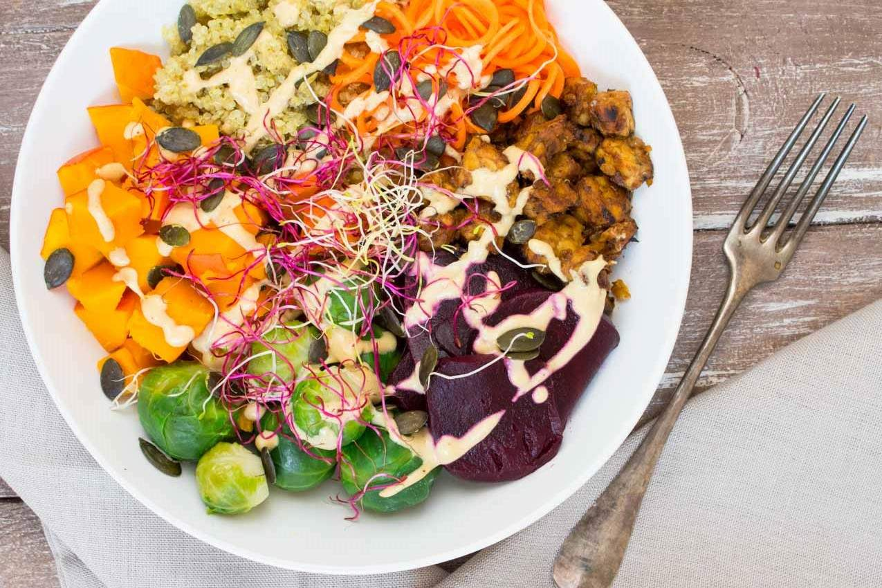 Fall Buddha Bowl with Quinoa