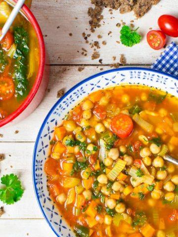 Italian Vegan Garbanzo Bean Soup