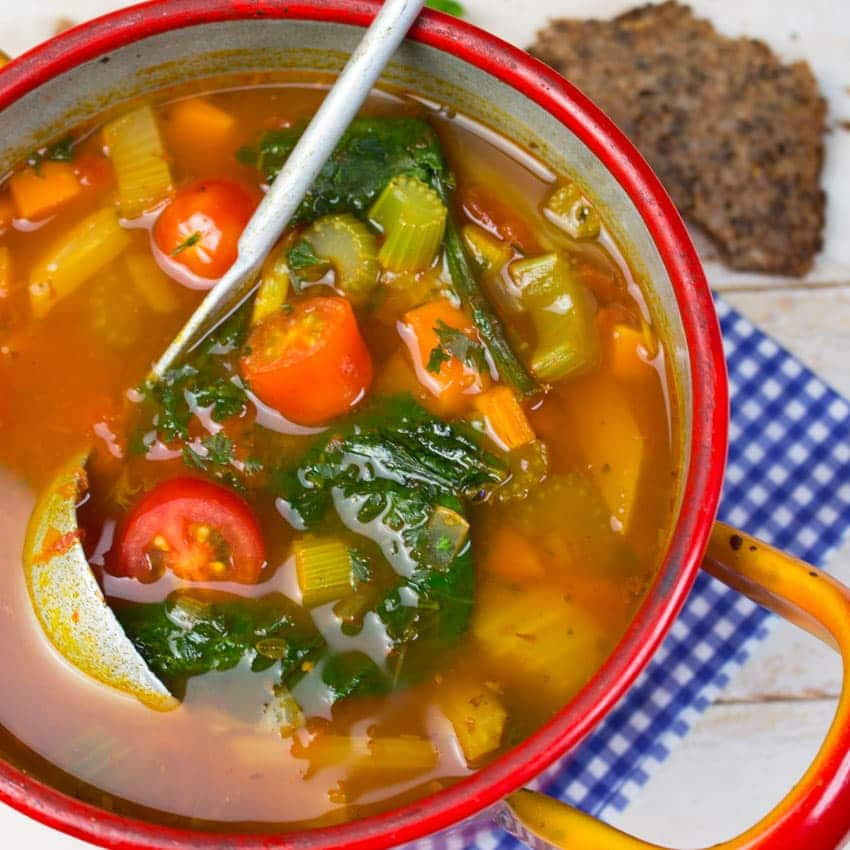 Italian Vegan Garbanzo Bean Soup
