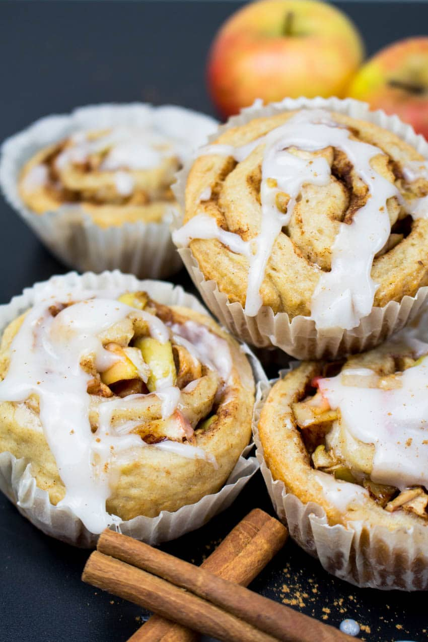 Vegan Cinnamon Rolls with Apples