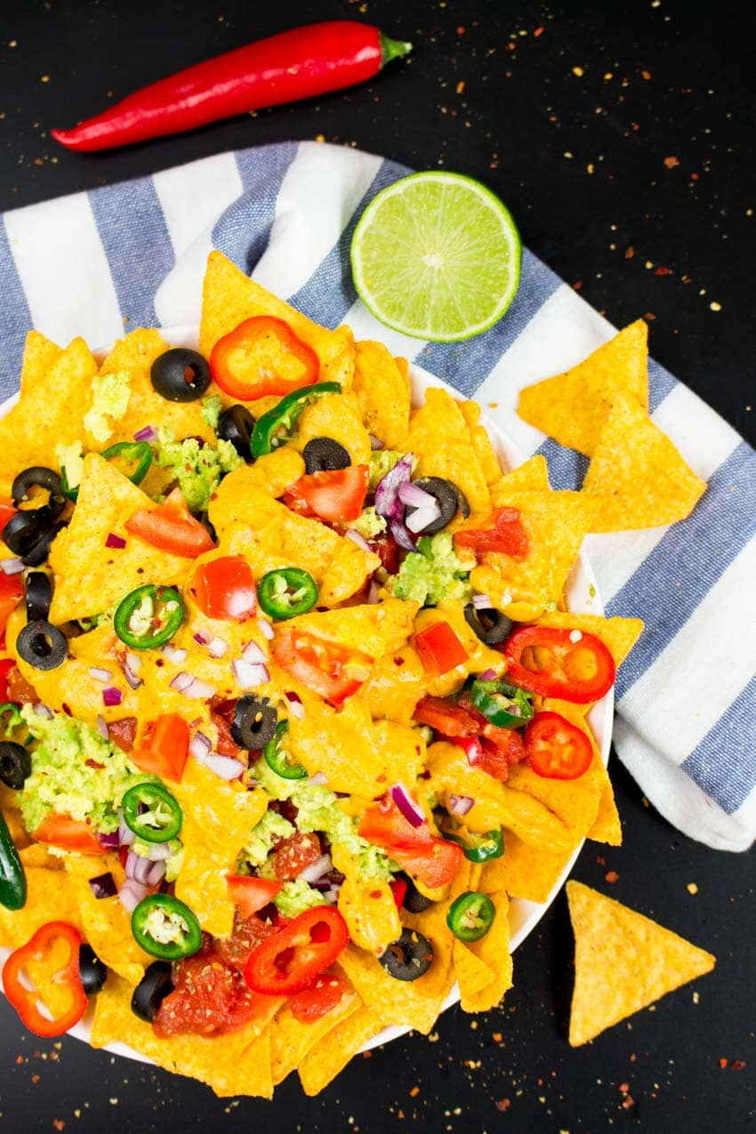 Vegan Nachos with Pumpkin Cheese Sauce