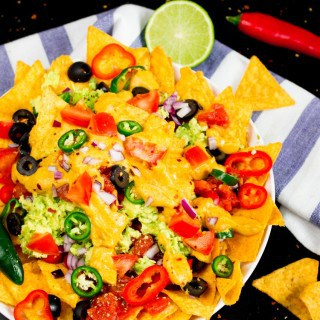 Vegan Nachos with Pumpkin Queso Dip