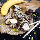 Super Easy Banana Sushi