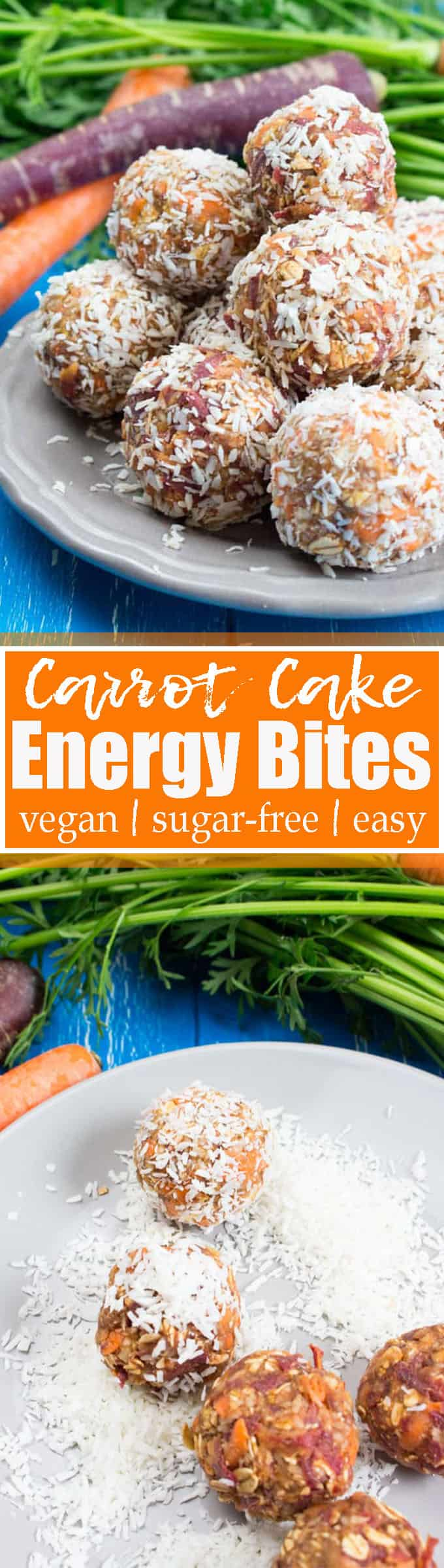Are you looking for a healthy snack? Then these carrot cake energy bites are perfect! They're vegan, sugar-free, easy, and kid-friendly! Find more vegan snacks and vegan recipes at veganheaven.org!
