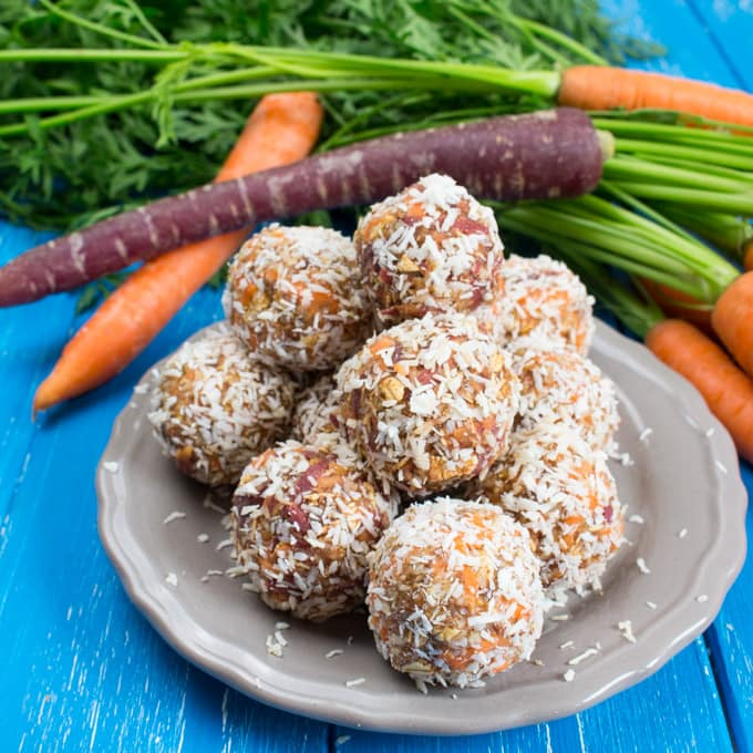 Carrot No Bake Energy Bites