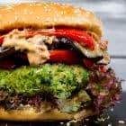 Green Monster Veggie Burger