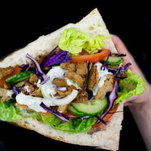 Vegan Shawarma with Tzatziki and Seitan