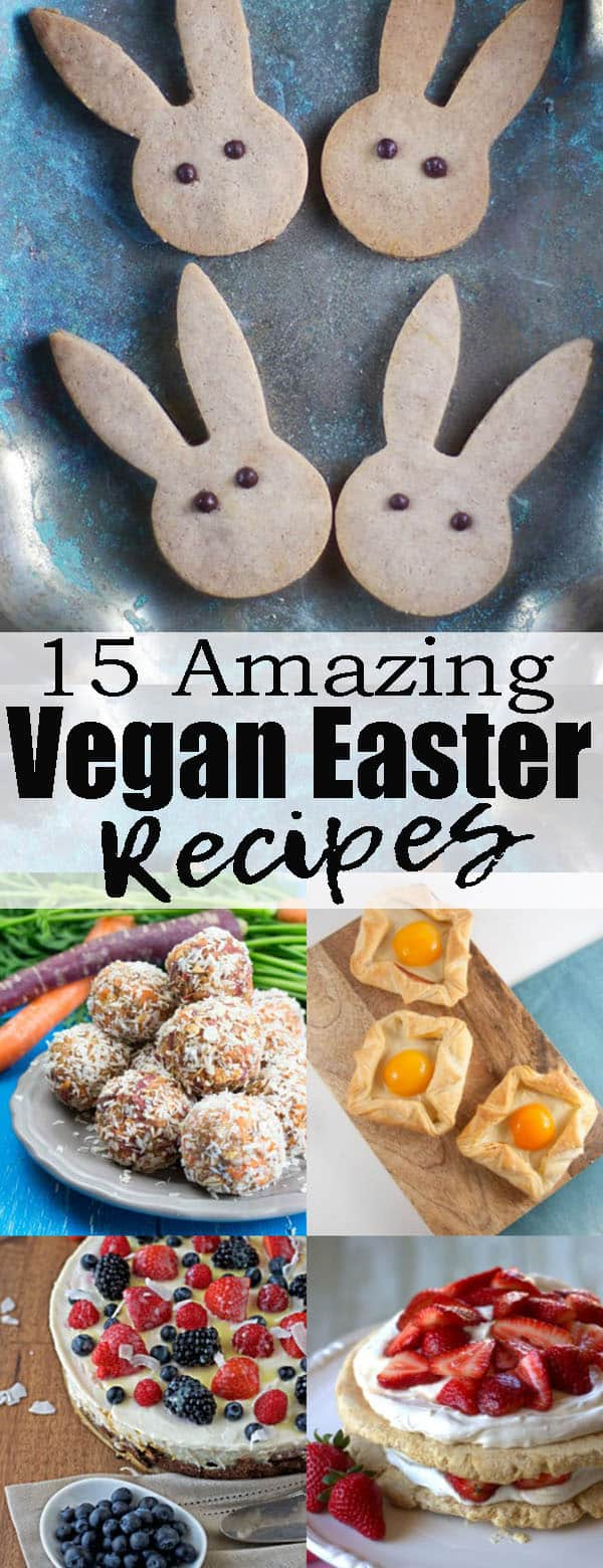 If you're looking for vegan Easter recipes, this roundup is perfect for you! It includes delicious vegan cakes, vegan desserts, vegan snacks, and also some festive vegan mains that are perfect for spring!