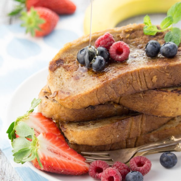 French Toast without Milk and Eggs