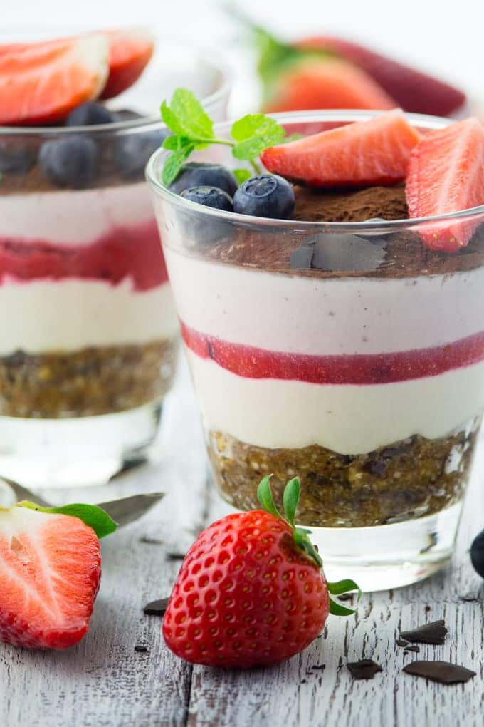 Vegan Tiramisu with Strawberries
