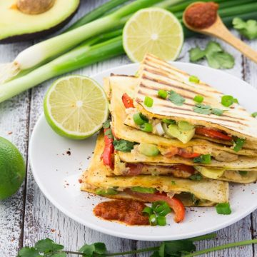 Easy Vegan Quesadillas with Beans