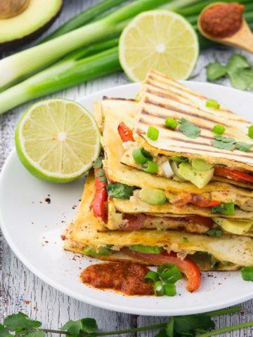Easy Vegan Quesadillas with Beans