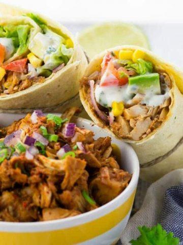 Vegan Pulled Pork Wrap with Avocado