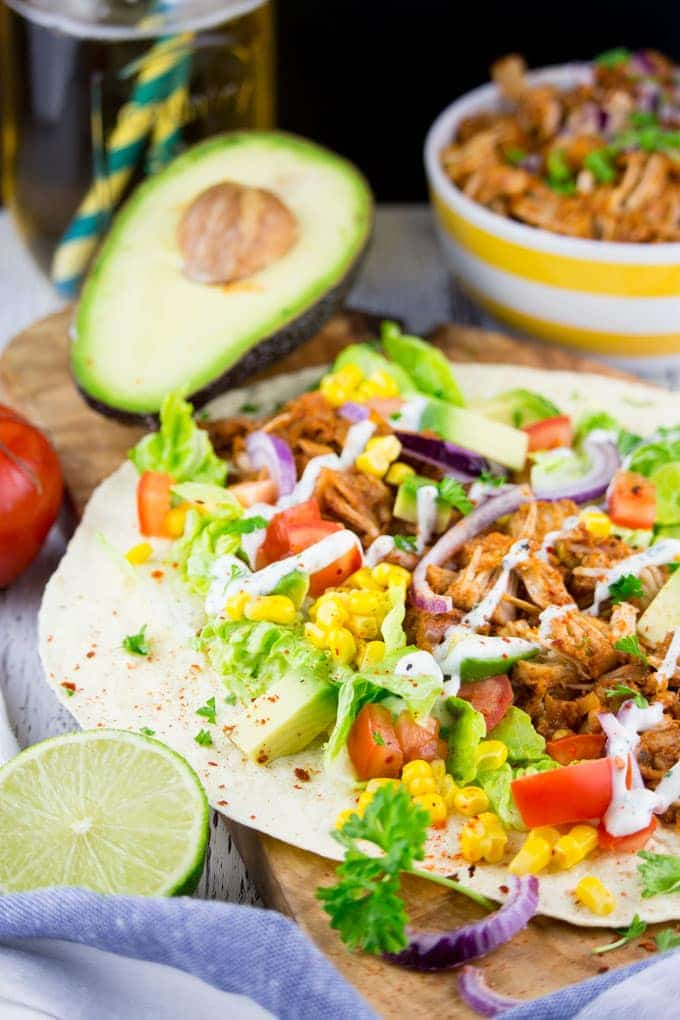 Vegan Pulled Pork Wrap with Avocado
