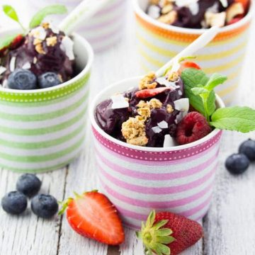 2 Ingredient Blueberry Ice Cream