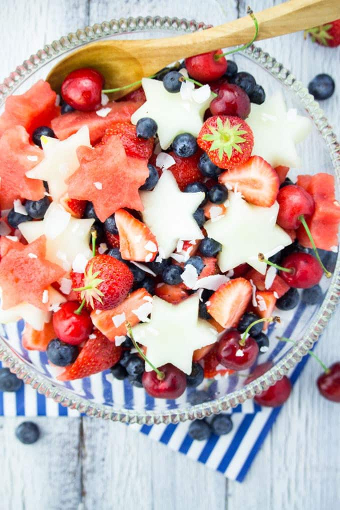 fruit salad patriotic holiday healthy