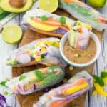 Rice Paper Rolls with Mango