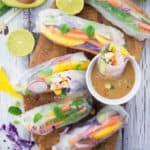 Rice Paper Rolls with Mango and Mint