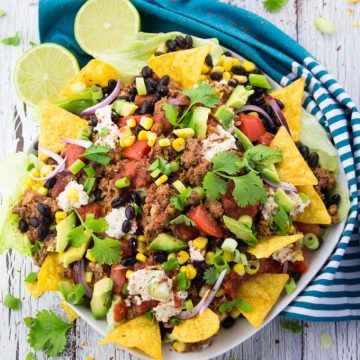 Vegan Taco Salad with Lentil Walnut Meat