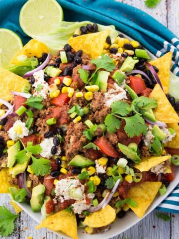 Vegan Taco Salad with Lentil Walnut Meat