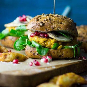 Vegan Pumpkin Burger