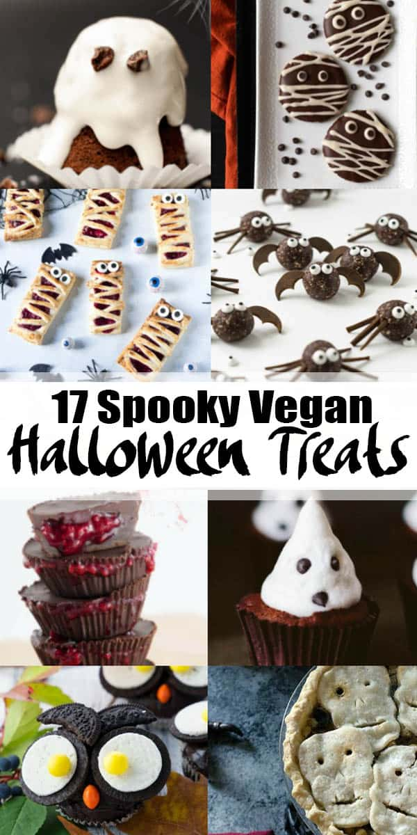 17 spooky vegan Halloween recipes that are so much fun to make! A perfect collection of appetizers and sweets for your Halloween party or buffet. #vegan #Halloween #veganrecipes