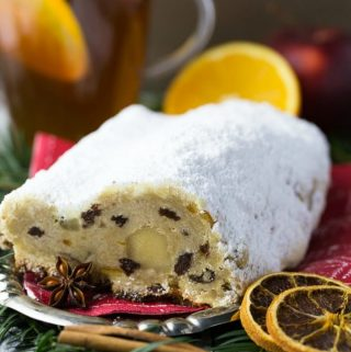 German Stollen with Marzipan