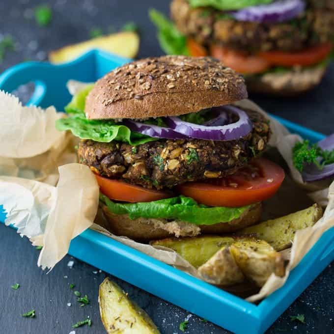 Vegan Mushroom Burger Vegan Heaven