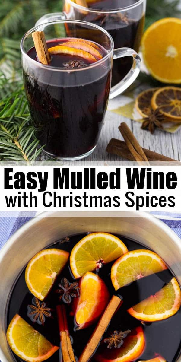 This German mulled wine is the perfect Christmas drink! It's prepared from red wine that is heated and flavored with Christmas spices. It's ready in just 10 minutes! #Christmasrecipes #wine #drinks